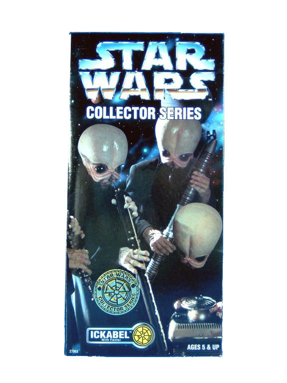 "1997 Star Wars POTF2 12"" CANTINA BAND ICKABEL Sealed"
